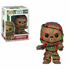 "STAR WARS CHEWBACCA CHRISTMAS LIGHTS 3.75"" VINYL POP FIGURE FUNKO 278"