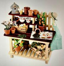 Dollhouse Miniatures 1:12 Scale Deluxe Garden Potting Bench By Reutter Porcelain