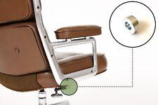 Eames Herman Miller Time Life Chair / Lounge Tilt End Cap Brushed - Large Size