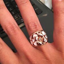 Ring Strass Kristall Rose-Gold Statement, Gr. 18= 1,8 cm NEU TOP