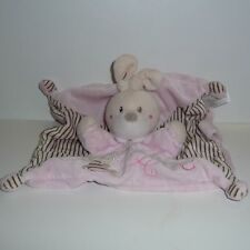 Doudou Lapin Nicotoy - Collection ABC - Rose