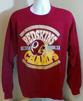 VTG Trench USA Made Men's Washington Redskins 1991 NFC Champions Sweatshirt XL