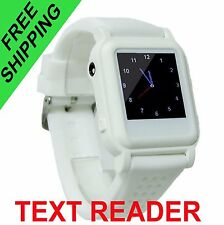 Spy Watch with TEXT Reader MP3 MP4 Music Video earpiece micro wireless headphone