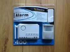 NEW & SEALED STERLING 400WKIT WIRELESS ALARM SYSTEM KIT & EXTRA PIR MOVEMENT DET