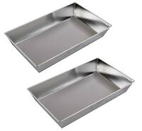 2 x Textured Baking Tray / Mould  Large Tray Bake 39x23x7cm