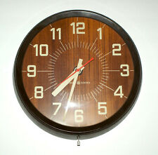 "Vintage 1960's GE General Electric GE Wall Clock 14"" Model # 2012 UNIQUE"