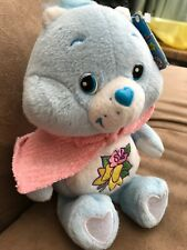 "Care Bears GRAMS BEAR plush Carlton Cards 20th Anniversary 8"" 2003 Beanie Blue"