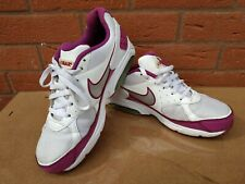 NIKE AIR MAX FAZE WHITE/PINK LEATHER TRAINERS SHOES SIZE UK SIZE 7.5 EUR 42