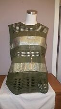 NWOT J Crew Collection gilded eyelet shell Green Shirt Top Size 6 $187