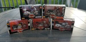 Maisto Harley Davidson Lot of 6 Bikes New 1:18