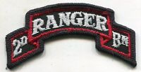 Vintage US Army 2nd Ranger Bn COLOR Patch Tab