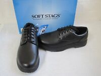 New Men's Soft Stags Foreman Slip Resistant Work Lace Up Casual Shoes Black W60