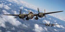 """WWII WW2 USAAF USAF P-38 Lightning Ace Aviation Art Photo Print - 24"""" X 12"""""""