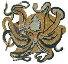 Yellow Octopus Marble Mosaic