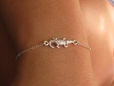Silver bracelet, silver heart bracelet, sterling silver bracelet, crocodile