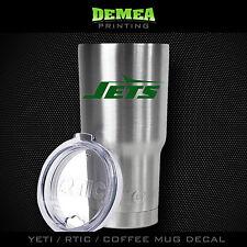New York Jets -Yeti/Rtic/Yeti Rambler/Tumbler/Coffee Mug-Decal-Green