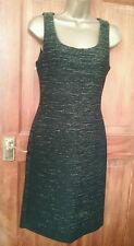 black sleeveless gold sparkle party LBD dress monsoon size 8 bnwt cruise