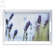 50 x 35 Kunststoff Melamin Serviertablett Frühstückstablett Tablett Lavendel