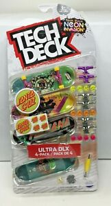 TECH DECK SANTA CRUZ NEON INVASION ULTRA DLX 4-PACK - IN HAND - SG4