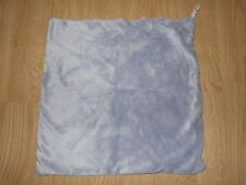 DOUDOU plat carré velours gris tissu rayé rose bleu vert D