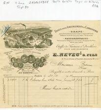 Paris II ème 13 Rue d'Uzès - Belle Entête Tapis de Billards & Sellerie Auto 1911