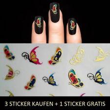 Nagelsticker Metallic Gold-Bunt Nail Sticker Aufkleber Tattoo Nageldesign Y210