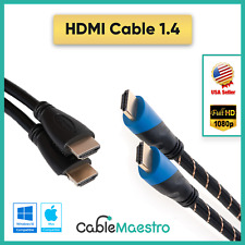Premium HDMI Cable HDTV 1.4 3D PS3 PS4 Cord Gold Bluray LCD 3-100ft Lot