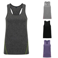 Ladies Running Training Yoga Vest Double Strap Mixed Colours Womens Tridri Gym