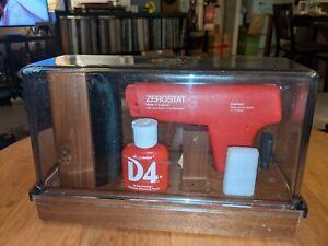 Discwasher ZEROSTAT 3 Vintage Vinyl Cleaning Set Record Anti Static Gun, Brush
