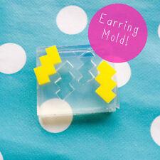 Molde De Pendientes-Zig Zag forma de resina artesanal Aretes Pendiente De Silicona Molde
