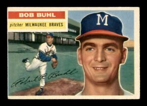 1956 Topps Set Break # 244 Bob Buhl VG-EX Light Crease Corner *OBGcards*