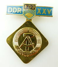 #e1940 25. Jahrestag der DDR FDJ goldfarben