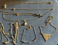 Lot Of Gorgeous Dainty Goldtone Necklaces