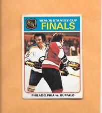 HOCKEY CARDS-75/76 OPC #1 STANLEY CUP FINALS