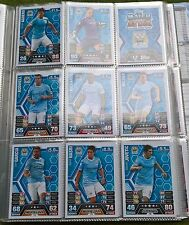 Match Attax - 2013/2014 - Manchester City - 13x Cards- Exc Con - Free Post!