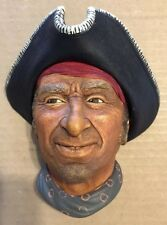 """Captain Kid Privateer"" Vintage Bossons Hand Painted Chalk Ware RARE"