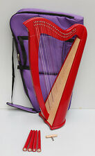 Mikel Lever Harp 27 Strings, with carry bag and detachable legs. optional Levers