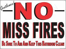 BATHROOM WARNING FOR MEN- metal sign, collectible sign, WALL ART, DECOR, BATH