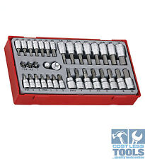 Teng Tools 35 piece 1/4″ and 3/8″ drive Bit Socket Set TTBS35