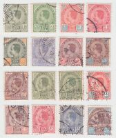 "1899-1904 Thailand Siam 3rd Issue Complete Set Sc#75-89 include Small ""๑"" Used"