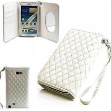 Handy Tasche Etui Schutz Hülle Samsung N7100 Galaxy Note 2 II Weiss Case Cover
