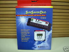 SunSaver Duo 25amp TWO Battery SOLAR Controller & Remote METER with 33ft Cable