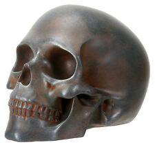 Rusted Skull Statue Sculpture Figure - WE SHIP WORLDWIDE