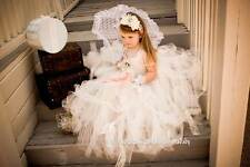 bride flower girl TuTu dress perfect for pictures ivory #A001  0- 7years