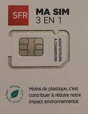 carte sim prépayee puce sfr neuve 10euro de crédit