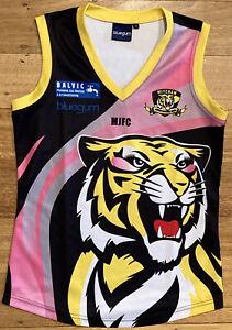 Mitcham Tigers JFC EFL AFL Girls Football Jumper Guernsey Black Yellow Pink  10