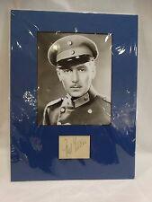 Photo Actor PAUL LUCAS Black & White Photo Military Uniform & Autograph