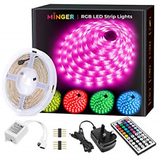 LED Strip Lights, MINGER 5M16.4ft RGB LED Light Strip 5050 LED Tape Lights, LED