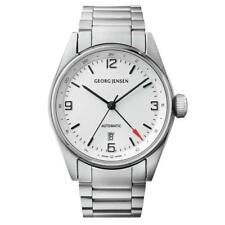 Georg Jensen Delta Men's Automatic Dual Time GMT Watch Swiss Made 3575599