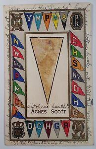 Georgia Postcard 1908 Rare Atlanta Agnes Scott Franklin Stamp Sorority Hazing